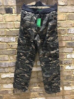 BNWT Mountain Warehouse Fully Lined  Camouflage Trousers Age 13