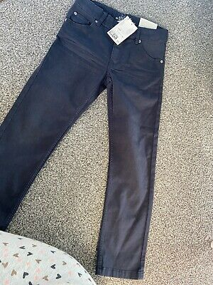 Boys Brand New With Tags Navy Chinos Aged 5-6 Years