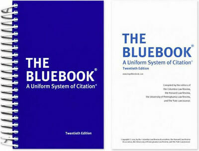 The Bluebook; A Uniform System of Citation, 20th Edition