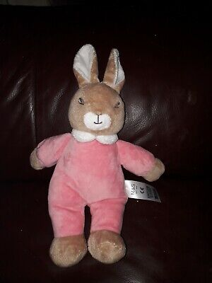 Marks and Spencers M And S Flopsy Pink Bunny