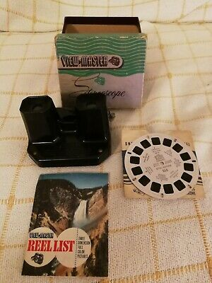 Sawyers viewmaster stereoscope Boxed With Disc