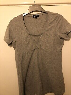 Two New Look Maternity Tops Size 14 One Black One Grey Cross Over Top