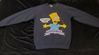 Vintage Bart Simpson Don't Have A Cow, Man! Crewneck Sweatshirt 1990