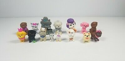 Small Plastic/PVC Dog Figures Toy Lot Of 15