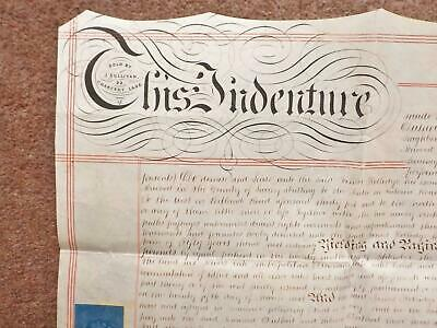 1863 South Norwood London Vellum Deed Indenture + colour paper Plan dated 1948