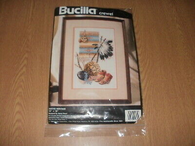 "Bucilla Crewel Embroidery Kit ""NATIVE HERITAGE"" *NEW*"