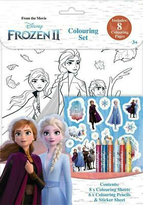 Disney Frozen Colouring Drawing Pencils Arts Crafts Set For Kids / Childrens