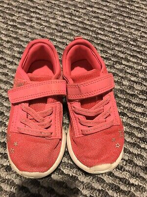 Pink girls trainers size 7 infant