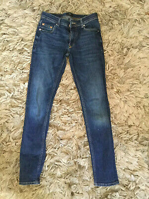 Boys/ Mens River Island Skinny Blue Jeans 28/32