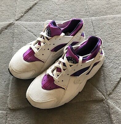 Girls Huarache Trainers Purple White Size 13.5 Rrp £59
