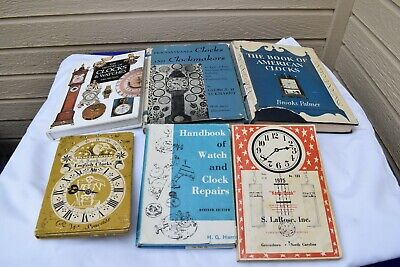Lot of 6 Clock Repair & History Books English & American Clockmakers