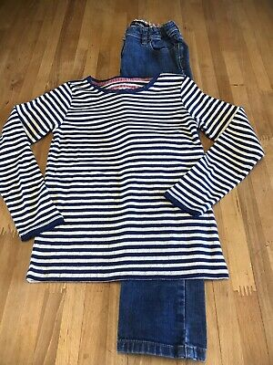 Mini Boden Girl Top Age 7-8 New And Jeans Age 8