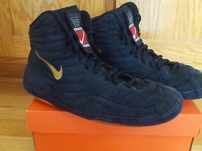 Nike OG Inflict Wrestling Shoes Black & Gold Size 11