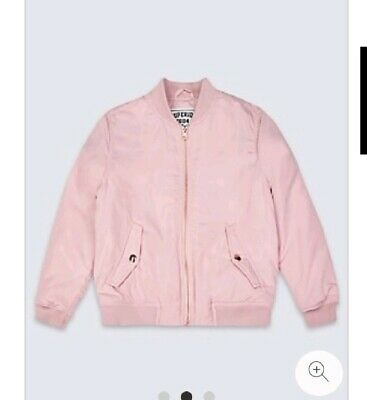 BNWT Girls M&S Pink Bomber Jacket Age 13-14 Years.