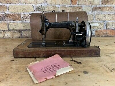 Antique Cast Iron Hand Stitch Sewing Machine, c early 1900's, Hermann Köhler