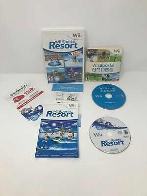 Nintendo Wii Sports & Wii Sports Resort Game Bundle Lot