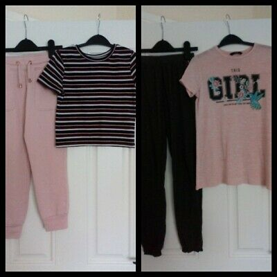 Girls Outfits Bundle River Island/George tops And Matalan/F&F Bottoms 9-10 Years