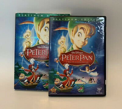 Disney's Peter Pan DVD (2-Disc, 2007, Platinum Edition) w/ Slip Cover
