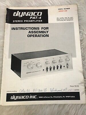 Dynaco Model Pat-4 Stereo Preamplifier Instructions For Assembly #3