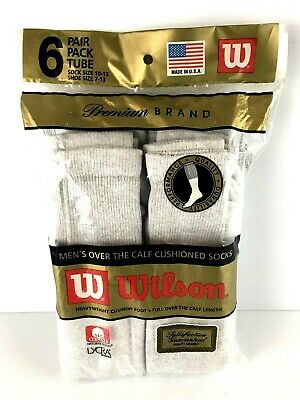 Vintage, Wilson Over The Calf  Cushioned Tube Socks, Pk of 6 Pair, USA