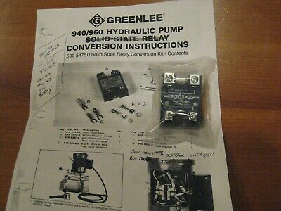 Greenlee 940 / 960 hydraulic pump solid state relay