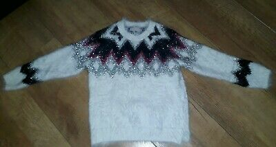 Girls Age 3-4 Party Christmas Winter Jumper