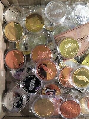 LUCKY DIP 1 x Randomly selected coins or Ingots, gold/silver plated, 999 copper