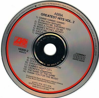 ABBA CD GREATEST HITS VOL. 2 - (Never played) Audiophile Recording (USA)
