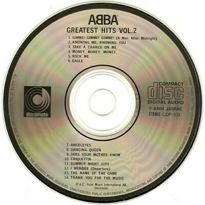 Abba Greatest Hits Vol. 2 Discomate Cd Japan Never Played, Perfect Copy