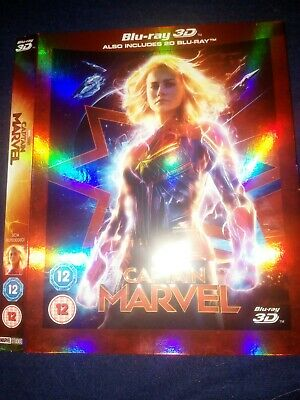 NO DISC marvel Captain marvel 3d Slip Case O-ring NO BLU RAY JUST COVER