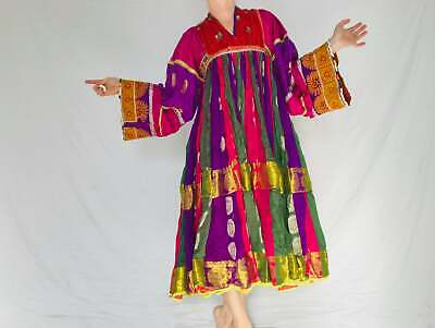 Vintage Kuchi Dress. Hand-Embroidered. Fits up to Size S