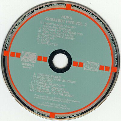 ABBA GREATEST HITS VOL 2 Atlantic TARGET CD (Audiophile Recording)