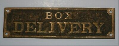 Antique Post Office Box Delivery Plaque, Pre-owned