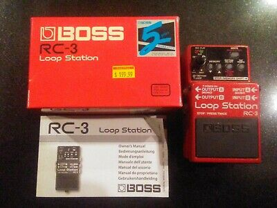 Boss RC-3 Loop Station - Original Box/Manual - Studio Use Only - Used