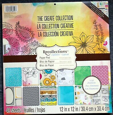 """New Recollections Funky Fresh 12/""""x12/"""" Paper Pad 48 Sheets 12 w Treatments Food"""