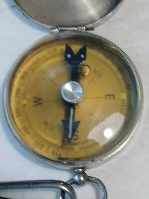 Vintage Pendant Watch Military Compass Old School Working Brass Body  Germany