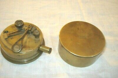 Vintage Early 20th Century Brass Maritime Pocket Sextant Made By A.Hobbs
