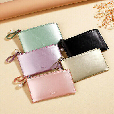 Women Short Wallets Mini Money Purses PU Leather Fold Coin Purse Card Holder Bag
