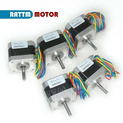 5PCS CNC Nema17,1.3A, 4000g.cm,17HS4402 POWACE Stepper Motor for 3d printer