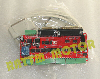 5 Axis LPT Breakout Board Optical Coupling Interface Adapter V8 For CNC Router