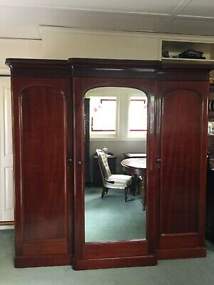 Magnificent Antique Victorian Combination Wardrobe w Chest of drawers