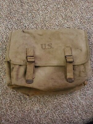 WW2 MUSETTE PACK FIELD GEAR BAG WWII LUCE 1942 BAG heavily used condition