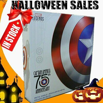 IN STOCK Marvel Legends Metal Captain America Shield 75th Anniversary NEW