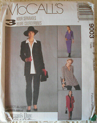 McCall/'s 9218 Misses/' Unlined Jacket Top Pull-On Pants /& Skirt  Sewing Pattern