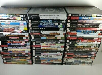 Sony PlayStation 2 PS2 Games U Pick Choose Complete Fun Rare Action Family