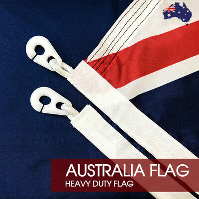 HEAVY DUTY Australian Flag Size 1800x900 With Polyester Sister Clips Ready Stock