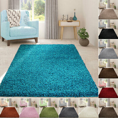 Modern Large 5cm Thick Soft Shaggy Rugs Living Room Bedroom Carpet & Runners