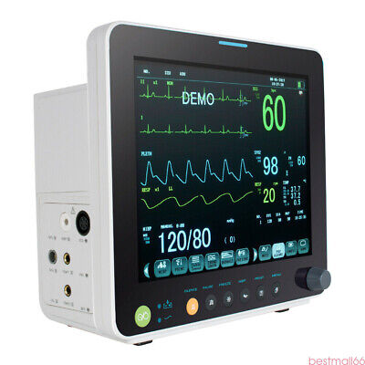 Portable 12 Inch Vital Sign Patient Monitor For Adult Pediatric and Neonatal USA