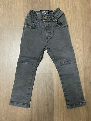 Next Baby Boys Black Grey Skinny Jeans Trousers Size 12-18 Months