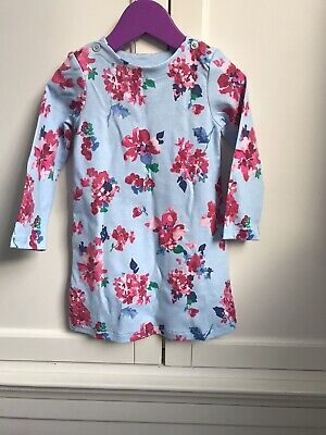 Brand New Joules Girls Blue Pink Floral Dress 18-24 Months